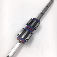 15mm L=1200mm Linear Motion Rail HGR15 + 2pcs Long Linear Carriage Rail Block HGW15CC for CNC XYZ Axis 3D Printer Replace HIWIN