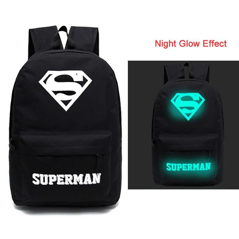 New Design Superman Backpacks Luminous 4 Styles Backpack Canvas Printing School Bags For Teenagers Backpack james robinson superman new krypton vol 4