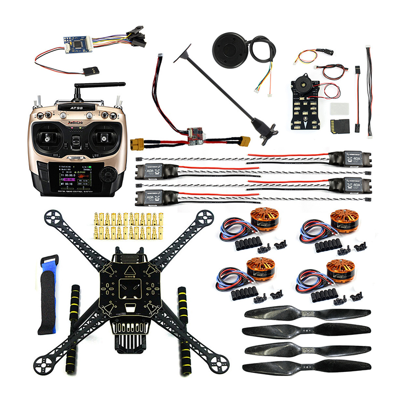 DIY FPV Drone Kit  Welded S600 4 axle Aerial Quadcopter Unassembled - Remote Control Toys