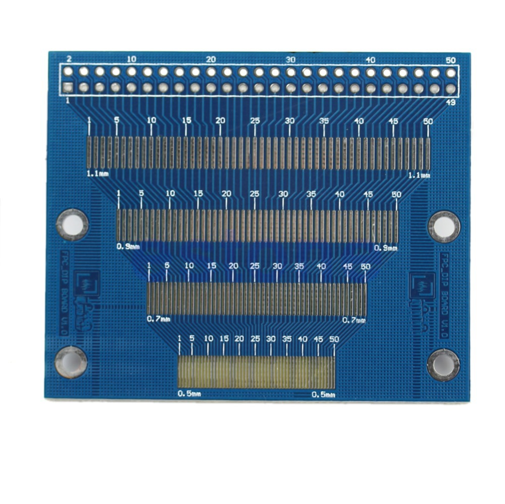 0.5mm To 1.2mm Pin Pitch Adapter PCB FPC Board 2.0-3.5inch TFT LCD SMD To DIP Electronic Module ...