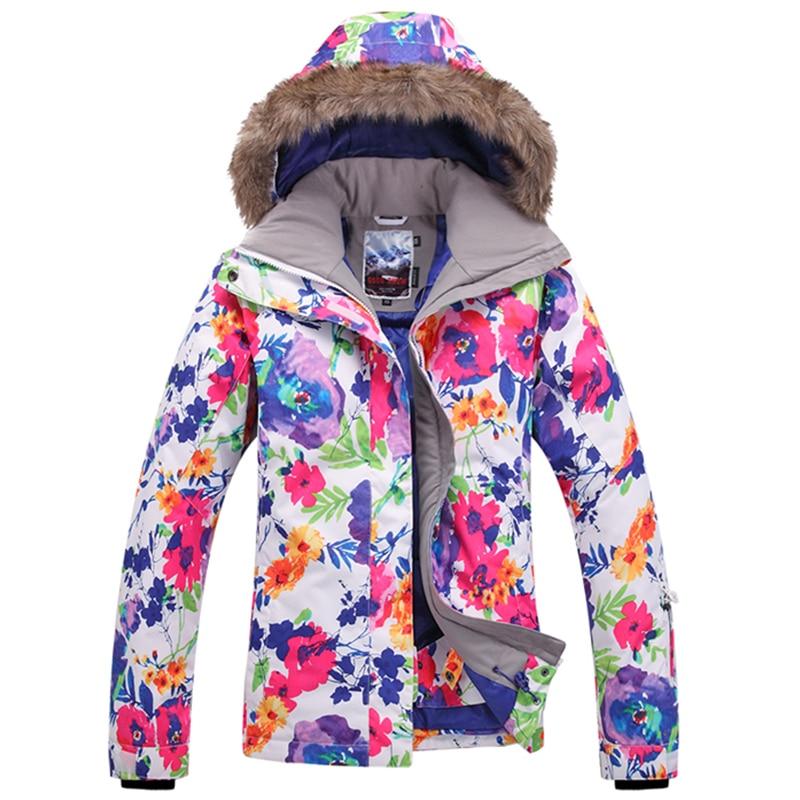 Prix pour Livraison Gratuite 2017 Gsou Snow hiver ski vestes costume pour femmes neige ski veste femmes snowboard ski costume femme