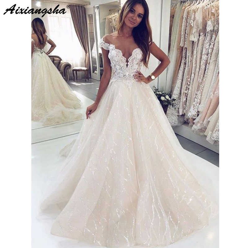 a0e0bcd907 Detail Feedback Questions about Sparkly Ball Gown Wedding Dresses ...
