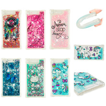 LUCKBUY For Sony Xperia XZ1 Case Luxury Dynamic Glitter Liquid Soft Phone for G8342 5.2 TPU Transparent Back Cover