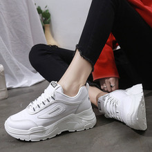 White Platform Shoes Sneakers Women Trainers Light Breathabl