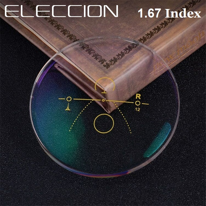 ELECCION 1,67 Index ультра-тонкая Бесплатная форма прогрессивные Мультифокальные линзы супер жесткая Смола оптические очки для глаз