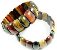 Naturstein tigerauge Türkisen Verkrustete Quarz kristall bead armband DIY schmuck energie Armreifen Stretch Kette armbänder für frauen