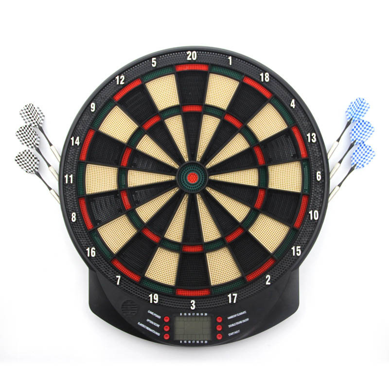 2017 New Dartboard scale sport Darts Flocking darts board target Hanging Dart game Adult kid toy rowsfir dart board 6 darts set funny play dartboard soft head darts board game toy fun party accessories gambling new year gift
