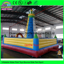 Various Design Inflatable Games, pvc Inflatable Rock Climbing Tower, Inflatable Climbing Wall For Sale
