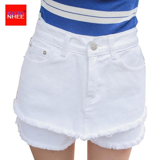 new concept 4943d 60332 US $13.79 20% di SCONTO 2017 Donne Dell'annata Gonne Corte Signore A Vita  Alta mini skorts Denim Shorts Gonne Donna Donna Estate Jeans Shorts in 2017  ...