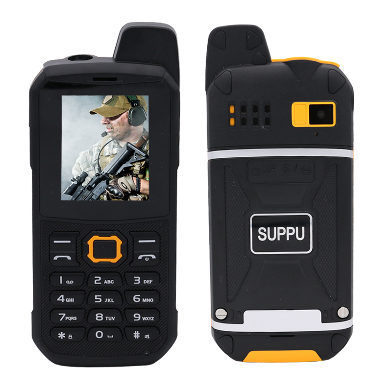 SUPPU IP67 waterproof UHF Walkie-Talkie bluetooth 3.0 flashlight <font><b>power</b></font> bank FM mp3 dustproof rugged mobile phone P284