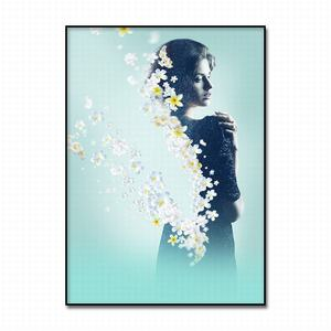 Image 5 - Canvas Painting Abstract Art Elegant female with flowers  Print Poster Pictures Oil pating For Living Room Decoration Wall atr