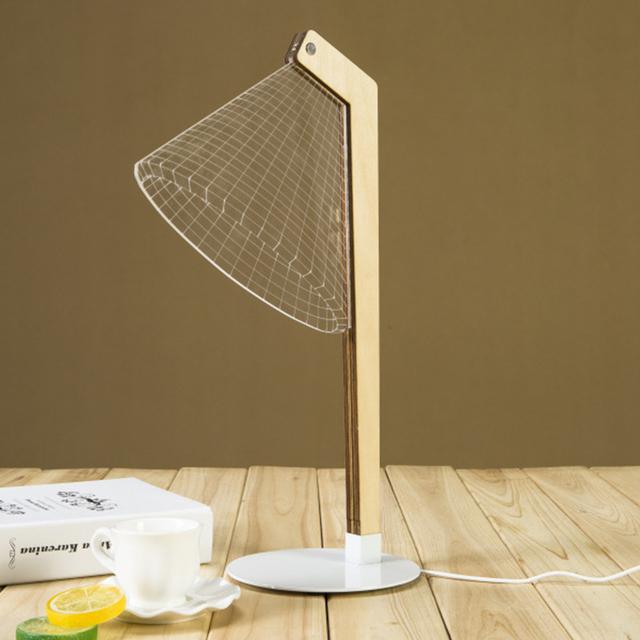 3D Acrílico Lâmpada de Mesa LEVOU Mesa de Luz Nightlight Desk Decor Home Decor Presente (Em Linha Reta Cintura)