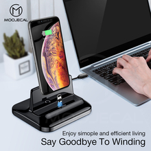MOOJECAL magnetic mobile phone holder Desk Stand Holder with Magnetic line charging Universal for iPhone xiaomi Andorid Phone