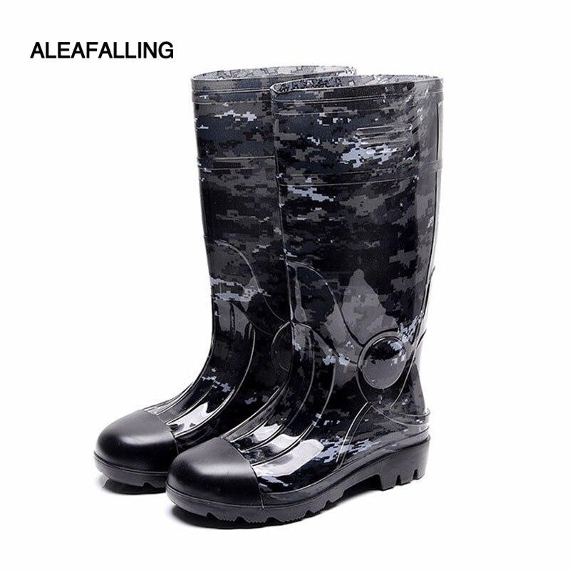 Aleafalling Neue Hohe Rohr Wasserdichte Regen Stiefel Winter Schuhe Männer Regen Junge Wasser Gummi Stiefel Außen Arbeitsplatz Slip Auf Botas M74 Quell Sommer Durst