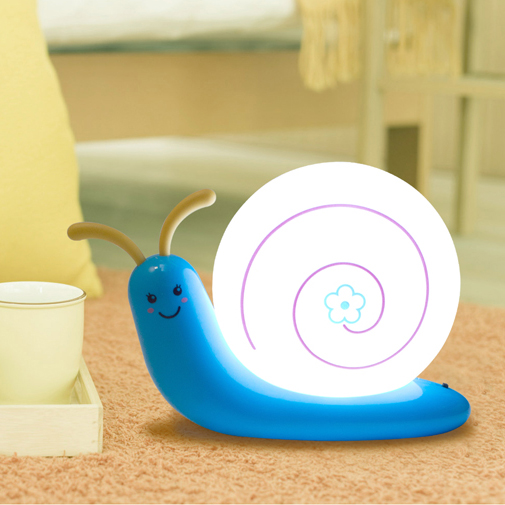 Cute Cartoon LED Snail Beside Table Lamp Baby Bedroom Decoration USB - Night Lights - Photo 4