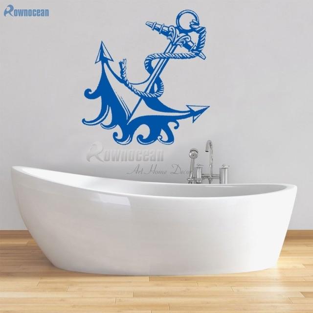 Nautical Wall Stickers Part - 35: Nautical Home Decor Anchor Wall Stickers Bathroom Furniture Childrenu0027s  Decorative Vinyl Tiles Door Murals Kids Wallpaper