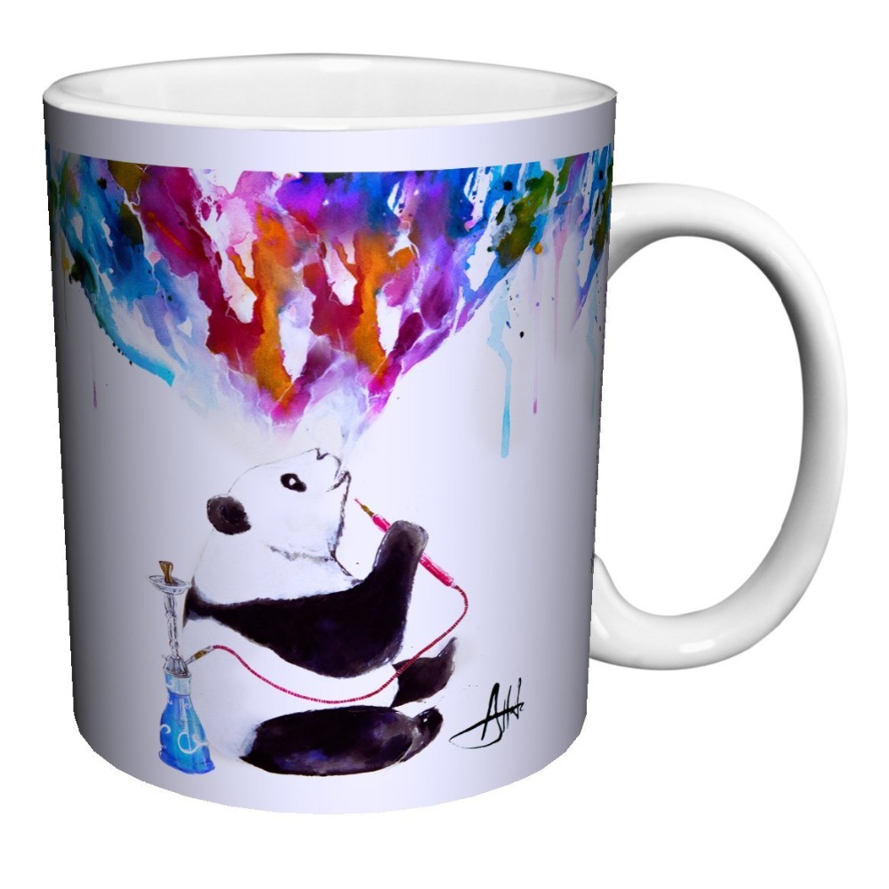 online buy wholesale modern coffee mugs from china modern coffee  - panda mugs art mug modern coffee mugs black cold hot changing color heatreactive tea mugen