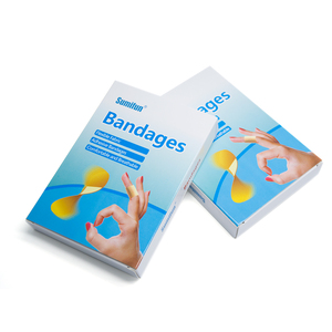 Image 3 - 100pcs/box Waterproof Breathable Bandage Adhesive Wound First aid Hemostasis Antibacterial Band aid Household Patches