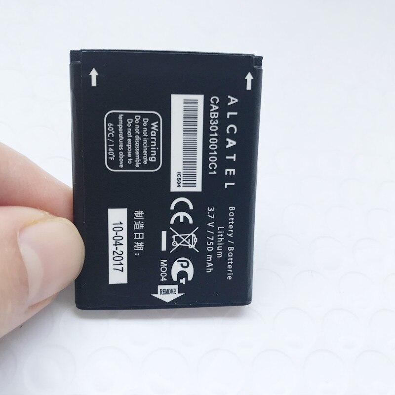 Neue 750 mah Batterie Für Alcatel CAB3010010C1/CAB30M0000C1/CAB2170000C1 Batterie Für ALCATEL ONE Touch 103 103A 105 105A