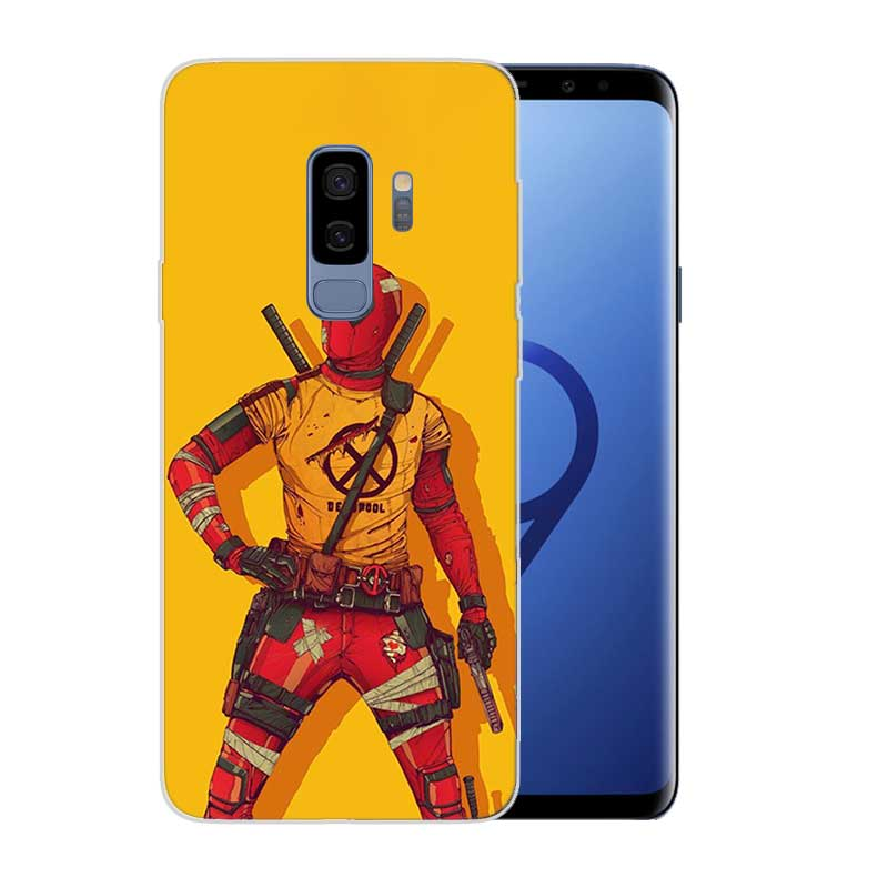 Painted Pattern TPU Back Case For Samsung Galaxy M10 M20 S10 lite S9 S8 Plus A10 A30 A50 Cover Funny Marvel Batman Chibi deadpoo in Fitted Cases from Cellphones Telecommunications