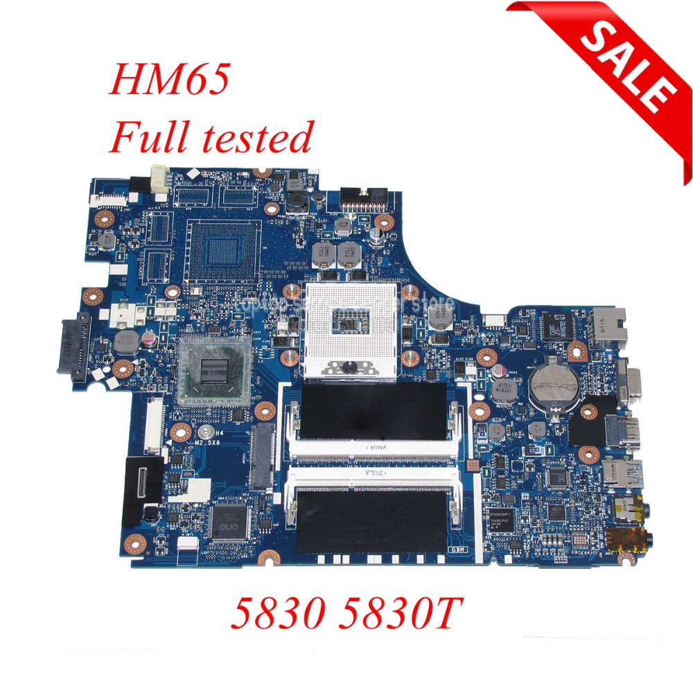 NOKOTION P5LJ0 LA-7221P Main board For Acer Aspire 5830 Laptop Motherboard MBRHM02001 DDR3 nokotion la 7221p mbrhj02001 mb rhj02 001 main board for acer aspire 5830 5830t laptop motherboard hm65 ddr3 geforce gt540m gpu