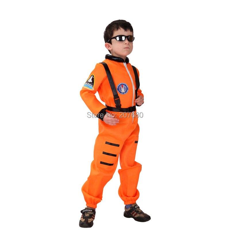 CHILD ASTRONAUT SPACE SUIT TODDLER ORANGE COSTUME Moon Theme Halloween