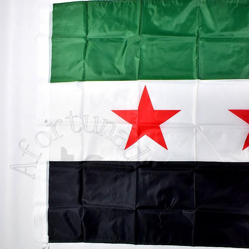 3/'x5/' Syria United Arab Republic Flag Bashar al-Assad Outdoor Banner Syrian 3X5
