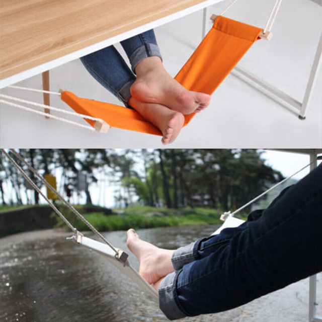 portable mini foot rest stand desk feet hammock easy to disassemble home study library comfortable indoor