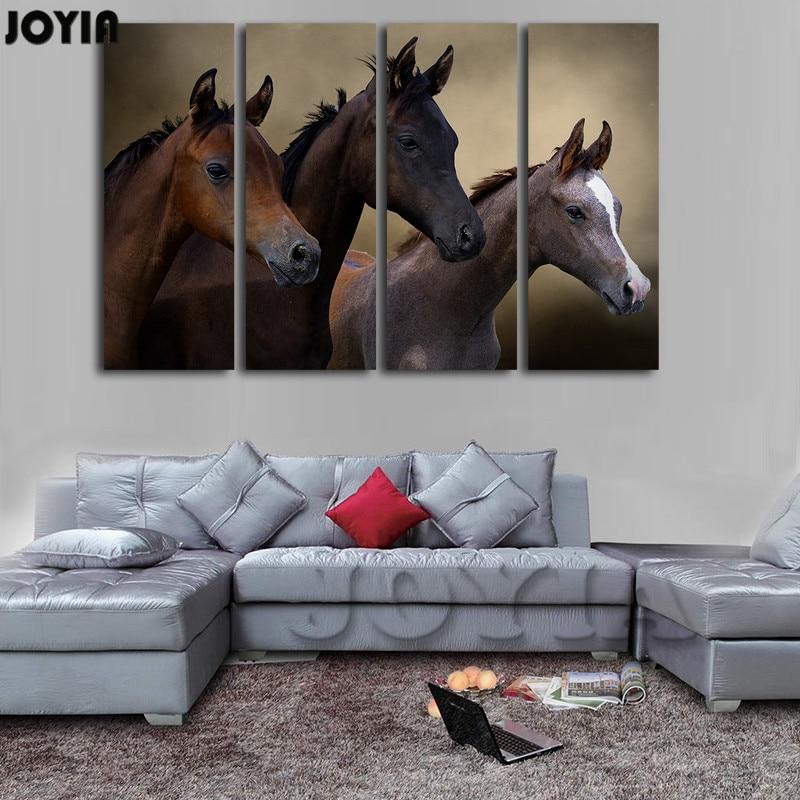Black Horse PAINTING Canvas Prints Home Decoration ...