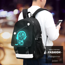 Backpack with Luminous Animation & USB Charge Connector