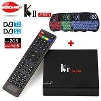 Original Mecool KII Pro DVB S2 DVB T2 S2 Android 5 1 TV Box Amlogic S905