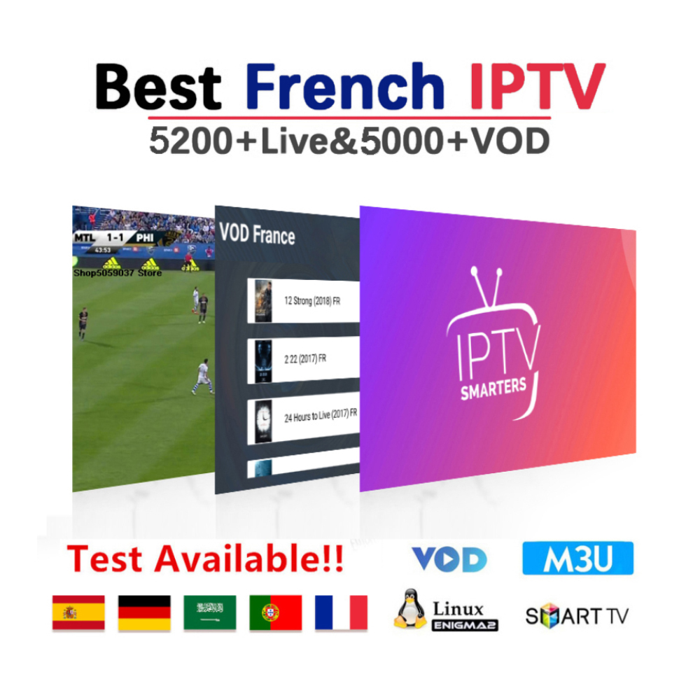 French Iptv 6500 HD Live Subscription Android Tv Box Europe France Spanish Italia Sweden Germany Portugal Iptv M3u Smart Tv Box