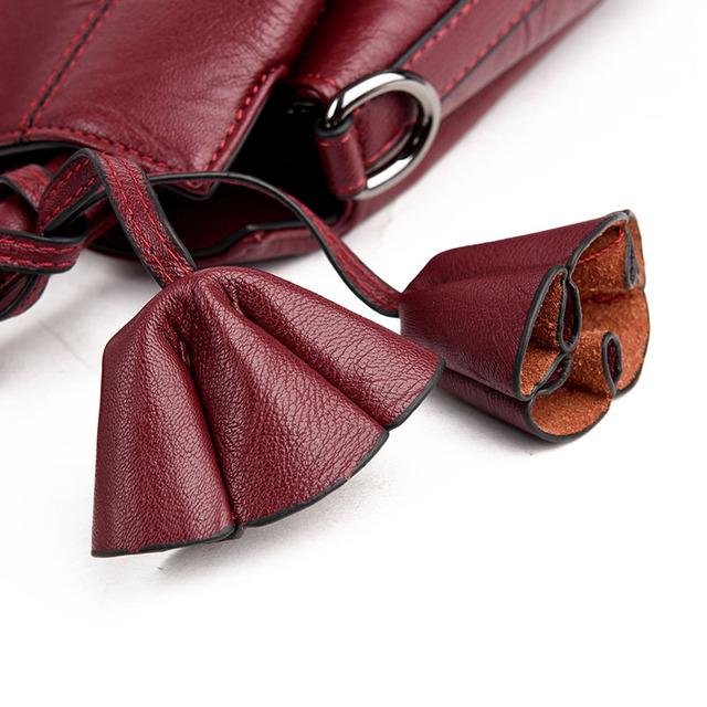YASICAIDI Fashion Pu Leather Women Shoulder Bags Famous Designer Vintage Tassel Large Women Messenger Bags Ladies Tote Bags Sac