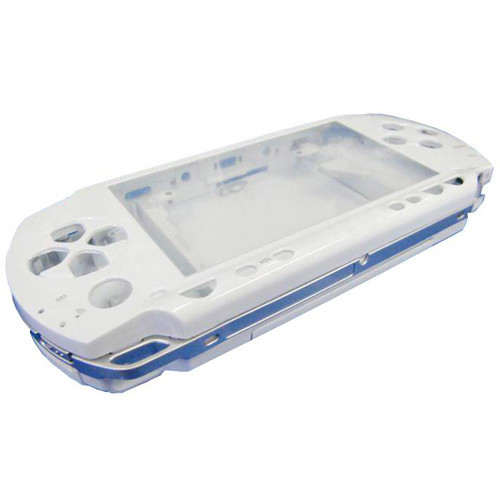 White High Quality Full Housing Repair Mod Case   Button Replacement for Sony PSP 1000