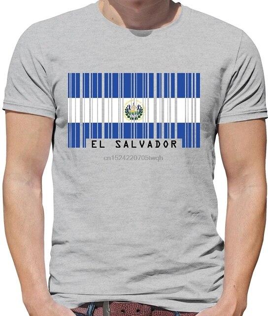 Desain Baru Baru Fashion Merek Pakaian Pria CrossFit Tops El Salvador Barcode Gaya Flag-Pria Crewneckmoviefitness Tshirt