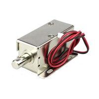Sistema de controle de acesso fechadura da porta mini trava elétrica bloqueio da gaveta do armário de arquivo pequeno mini elétrica parafuso de bloqueio Trava elétrica     -