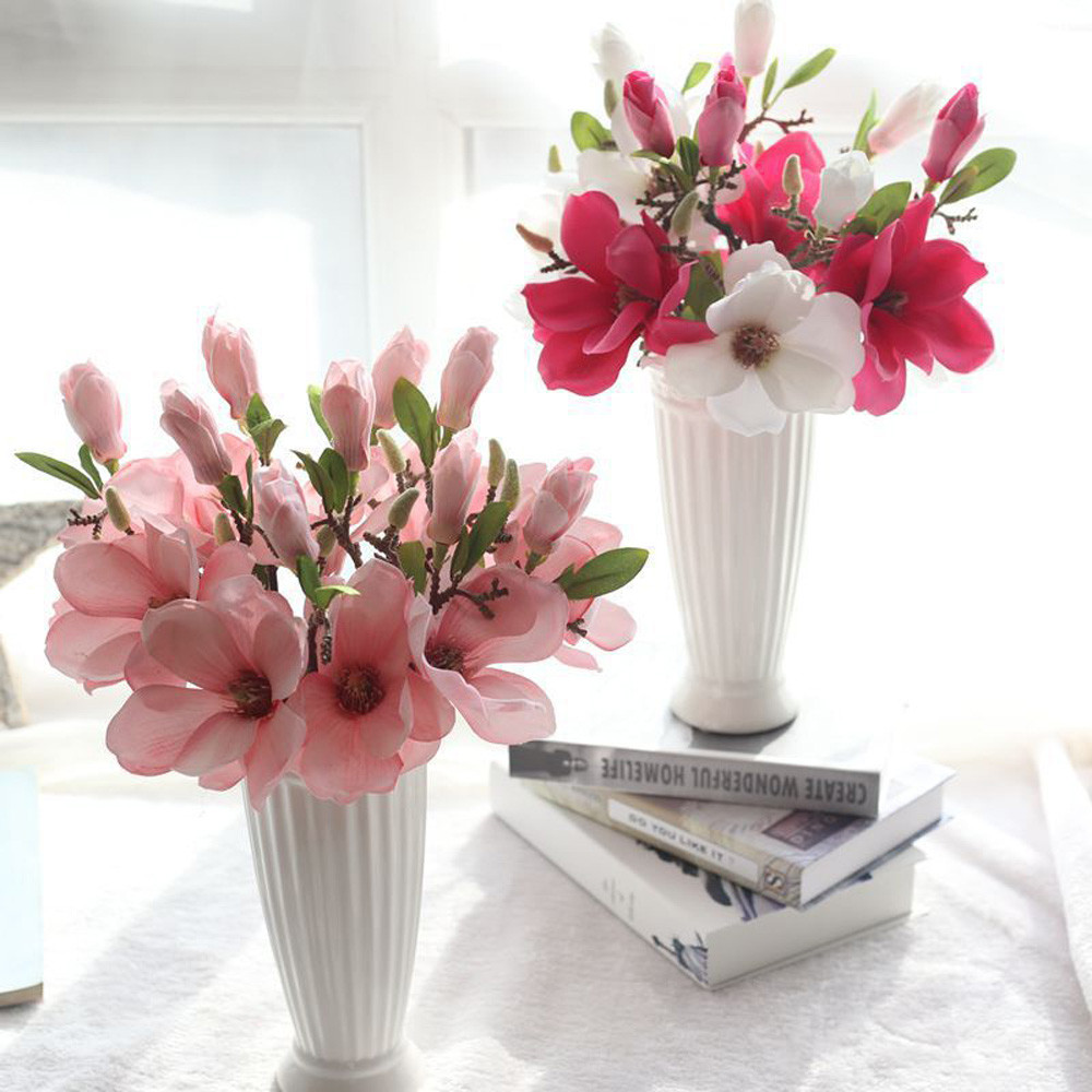 1pc Flowers Home Decoration Single Branch Magnolia Flower Orchid