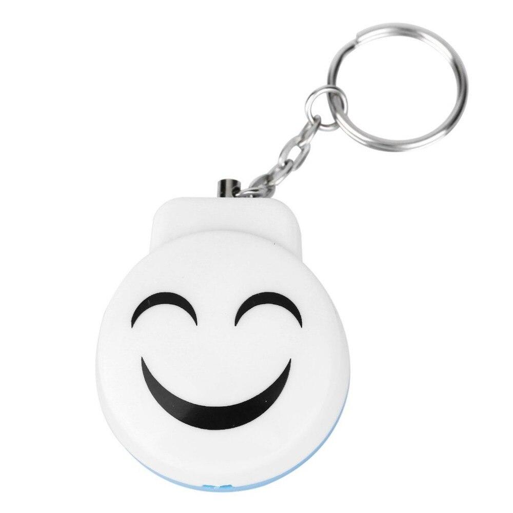 Smile Face Alarm Personal Electronic Panic Alarm Anti-Rape Anti-Attack Alarm Sensor Security Siren Keychain 120dB
