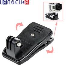 Lanbeika для GoPro 360 градусов Quick Release поворотный рюкзак Hat Клип Быстрый зажим для GoPro Hero 5 4 3 + SJCAM SJ5000 SJ6 SJ7