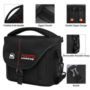 Image 3 - FOSOTO DSLR kamera çantası moda Polyester omuz çantası su geçirmez kamera çantası Canon Nikon Sony için Lens kılıfı çanta fotoğraf Video çanta