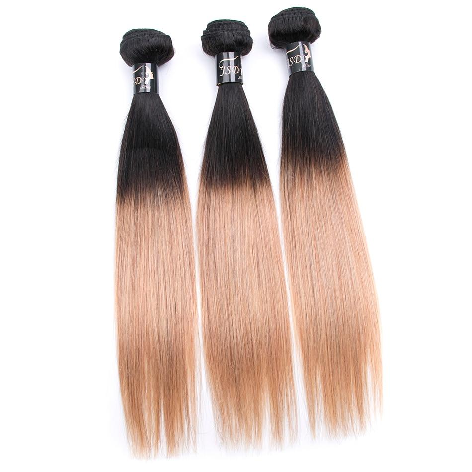 JSDshine вьетнамский светлые прямые Связки 1B/27 Цвет человеческих волос Weave пучки волос 3 Связки Бесплатная доставка
