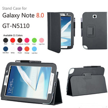 New 2-Folder Luxury Magnetic Folio Stand Leather Case Protective Cover For Samsung Galaxy Note 8.0 N5100 N5110 SM-N5110 8″