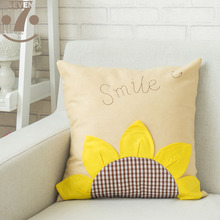 High Quality Soft Smooth Suede Fabric Lovely Cartoon 45x45cm Square Home Decorative Pillow Case