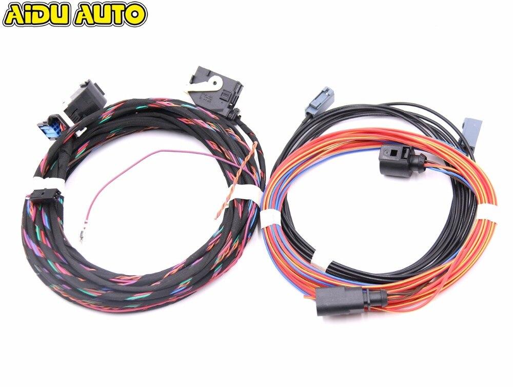 Highline Emblem Flip logo Rear Camera Install Wiring Harness cables For VW Passat B7 CC Golf 6 кольцо chanel cc logo