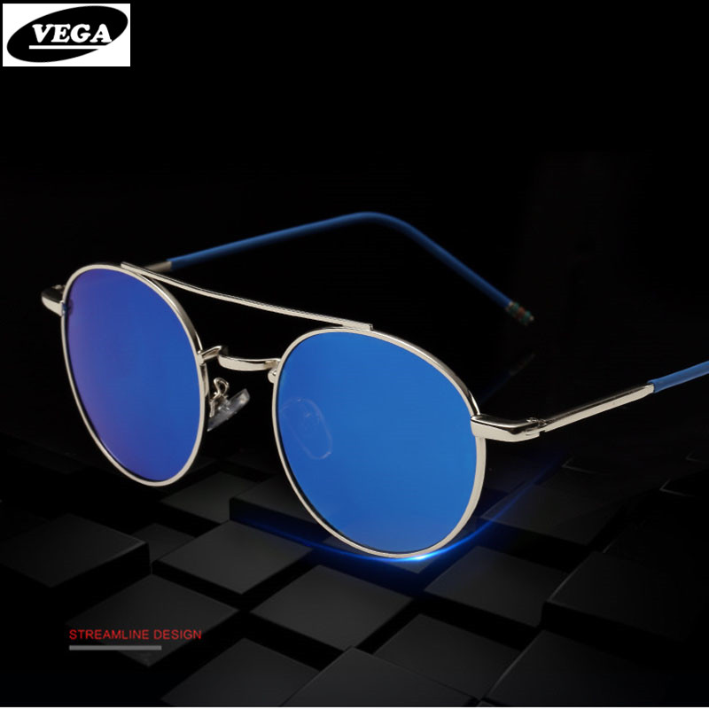 VEGA New font b Fashion b font Women Oval Sunglasses For Small Face Blue Tinted Sun
