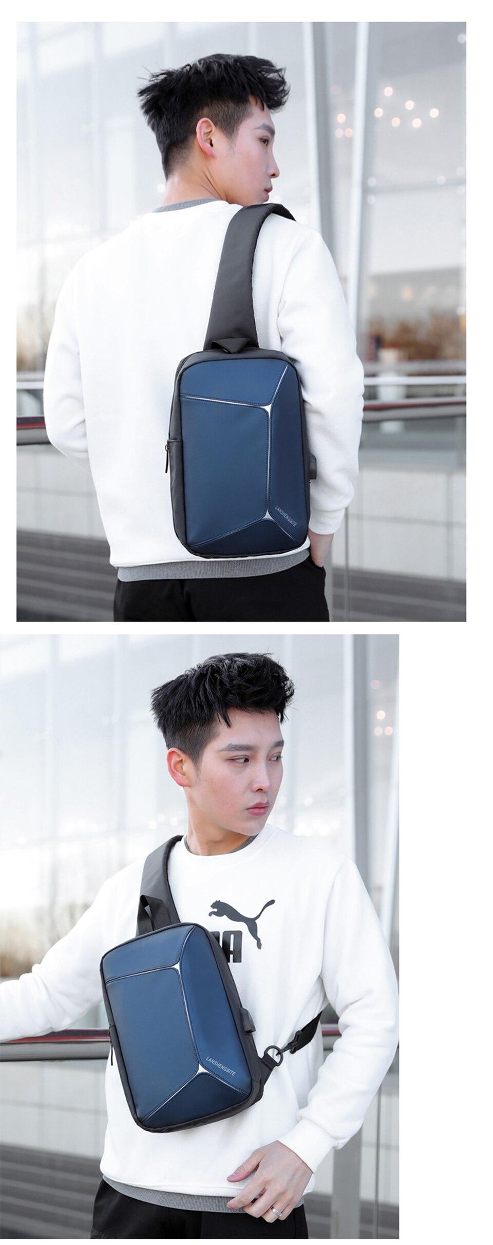 bolsa de ombro masculino mensageiro à prova