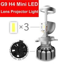 1 SET H4 G9 LED Hi-Low MINI Projector Lens Headlight Car Clear Dual Beam Turbo Fan 12V 5500K NO Astigmatic Problem 35W 6000LM
