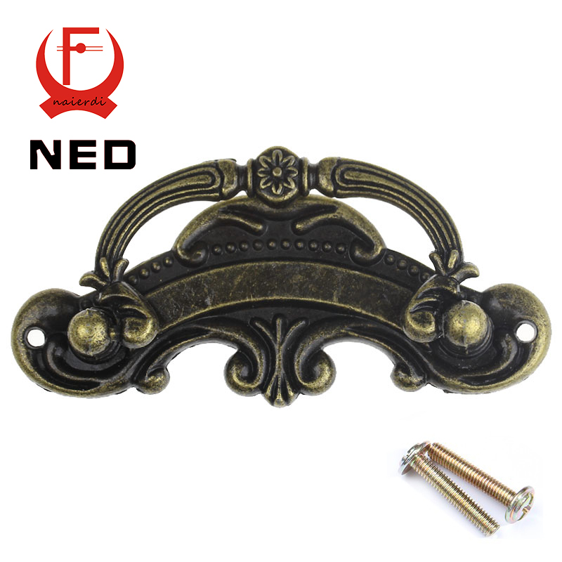 NED 8005 5PCS Tracery Basket Bronze Tone Kitchen Cabinet Knobs Door Cupboard  Handles Wardrobe Furniture Hardware Drawer Pull In Cabinet Pulls From Home  ...