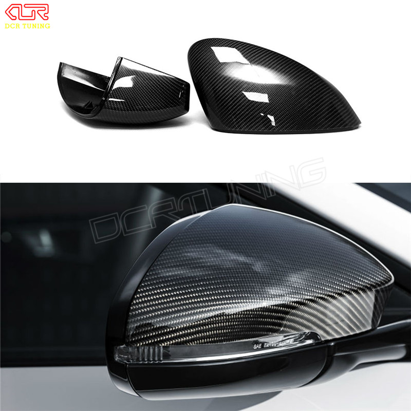 Carbon Fiber Rear View Side Mirror Cover Sets For JAGUAR F-TYPE Performance 2013 2014 2015 2016 2017 - UP