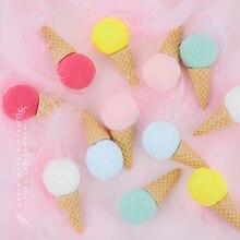 6 개/대 창의력 시뮬레이션 아이스크림 사진 소품 사진 스튜디오 액세서리 홈 파티 diy 장식 항목